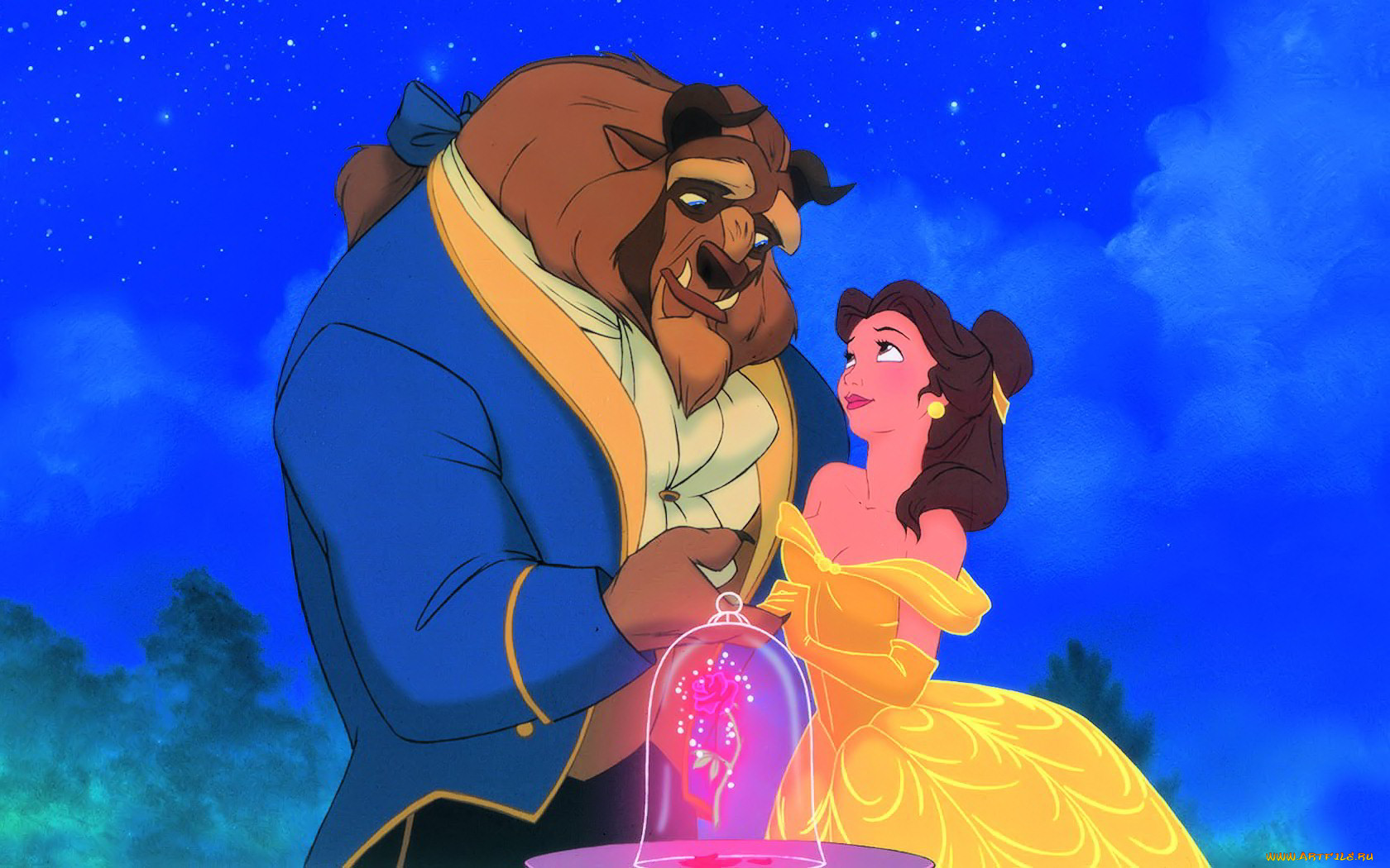a comparison of the movie beauty and the beast and et